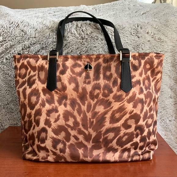 kate spade Handbags - Kate Spade Taylor Leopard Medium Tote NWT